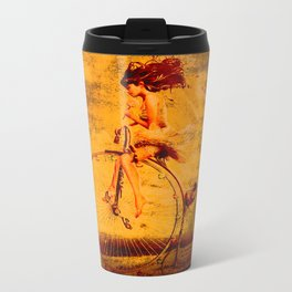 """ The life, it is as a bicycle, it is necessary to move forward not to lose the balance. "" Travel Mug"