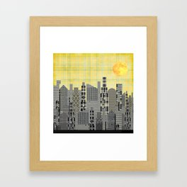 Plaid City Framed Art Print