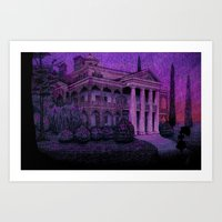 haunted mansion Art Prints featuring Haunted  by Abercrombie Murdoc