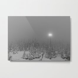 Dark day in the mountains Metal Print