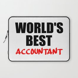 worlds best accountant Laptop Sleeve