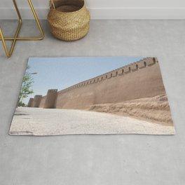 Yazd City Walls with Towers, Persia, Iran Rug