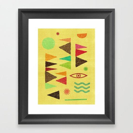 Tangential Paralysis (Part II). Framed Art Print