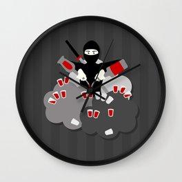 Super Ninja Bartender! Wall Clock