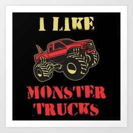 Monster Truck Art Prints For Any Decor Style Society6