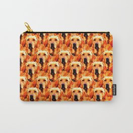 Cool Dog Art Doggie Golden Retriever Abstract Carry-All Pouch