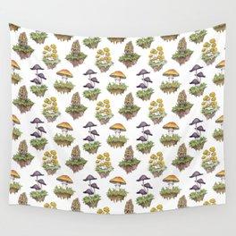 Mushroom Island Pattern Wall Tapestry