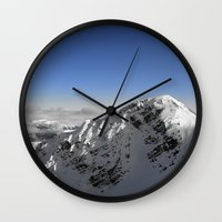 terminator Wall Clocks featuring Terminator Peak by Joe-LynnDesign