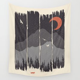 Winter Mountain Weather... Wall Tapestry
