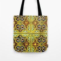 arabic Tote Bags featuring Arabic Tiles by Barbo's Art