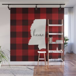 Mississippi is Home - Buffalo Check Plaid Wall Mural