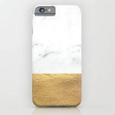 Color Blocked Gold & Marble iPhone 6 Slim Case