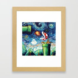 van Gogh Never Leveled Up Framed Art Print