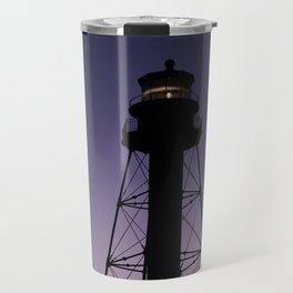 Sanibel Island Lighthouse Sunset Travel Mug