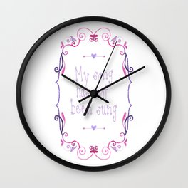 My song has not been sung (white) Wall Clock