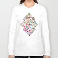 confetti Long Sleeve T-shirts featuring Confetti by FRAXTURED