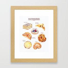 Parisian Pastry Framed Art Print