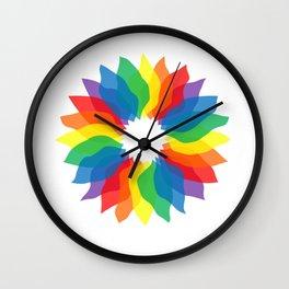 Rainbow Flower Wall Clock