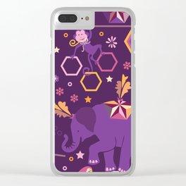 Hexagon circus Clear iPhone Case