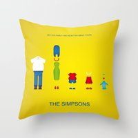 simpsons Throw Pillows featuring Simpsons by Jana Costa