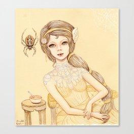Little Miss Muffett Canvas Print