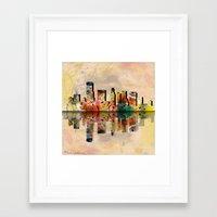 miami Framed Art Prints featuring miami  by mark ashkenazi