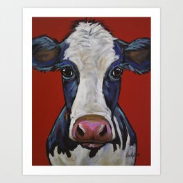 Colorful Cow Art, Georgia the cow Art Print