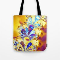 fireworks Tote Bags featuring Fireworks by LLMD