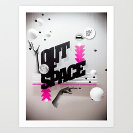 Out of space 01 Art Print
