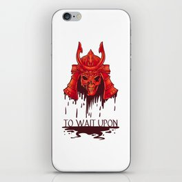 To Wait Upon iPhone Skin