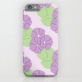 Morning Glory Pattern iPhone Case