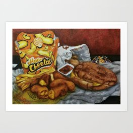 Mac n' Cheetos Omage Art Print