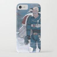 warhammer iPhone & iPod Cases featuring Warhammer 40,000 Space Wolf Marine by Derek Boman