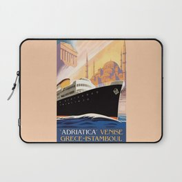 Venice Greece Istanbul shipping line retro vintage ad Laptop Sleeve