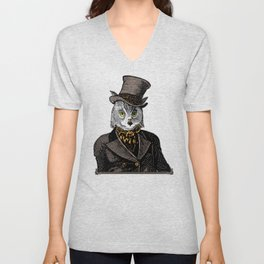 Owl Portrait   No.1 of 2 from The Owl and the Pussycat Set Unisex V-Neck