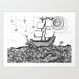 The Never Sea Art Print