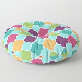 Vivid Moroccan Quatrefoil Floor Pillow