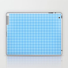 Picnic Pals gingham in blueberry Laptop & iPad Skin