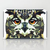 polygon iPad Cases featuring Polygon Owl by Andrew Mason