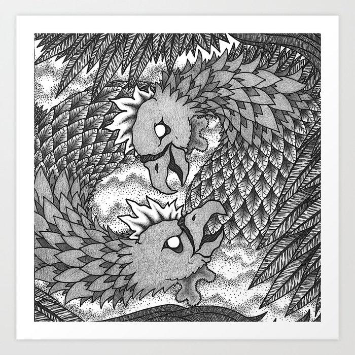 Cockfight Art Print