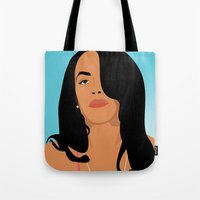 aaliyah Tote Bags featuring Babygirl by 92 Aesthetics