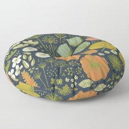 Botanical Sketchbook M+M Navy by Friztin Floor Pillow