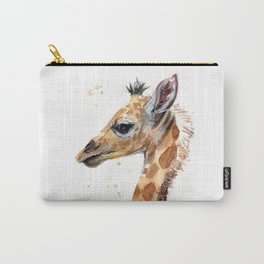 Giraffe Watercolor Cute Baby Animals Whimsical Art Carry-All Pouch