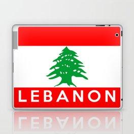 Lebanon country flag name text Laptop & iPad Skin