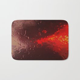 Abstract Red Rain Bath Mat
