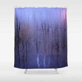 Purple Condensation Shower Curtain