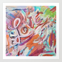 Love Grafitti Art Print