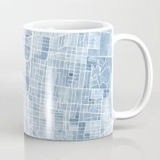 Memphis Tennessee blueprint watercolor map Coffee Mug
