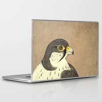 millenium falcon Laptop & iPad Skins featuring Falcon by Lynette Sherrard Illustration and Design