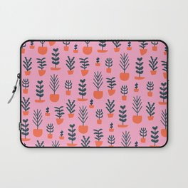 Potted Plants on Pink Laptop Sleeve